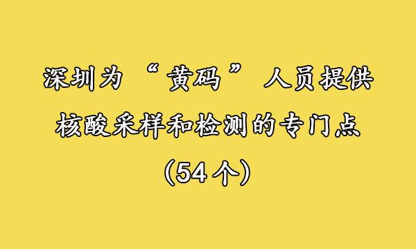 """深圳""""黄码人"""",54个最新检测点,一键查询!"""