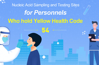 Nucleic Acid Sampling and Testing Sites for Personnels Who hold Yellow Health Code (54)
