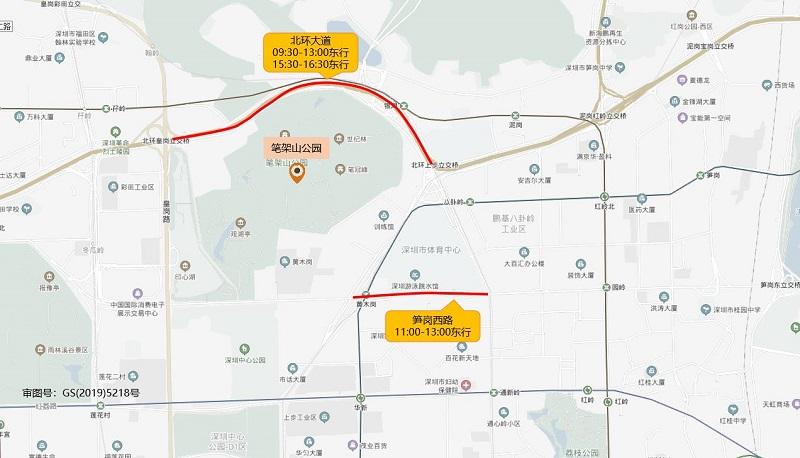 图15 笔架山公园端午假期周边道路拥堵分布(预测).jpg