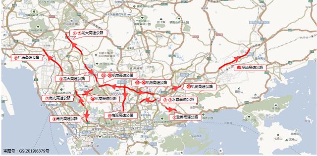 图2 9月18日(假期前一天)中秋假期高速公路拥堵路段分布预测.png